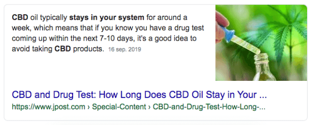 CBD Featured snippet