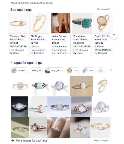 Opal rings SERP