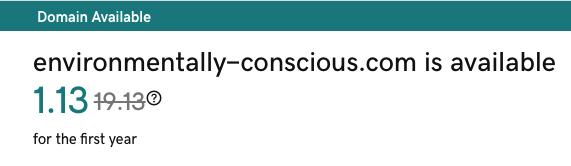 Environmentally conscious domain