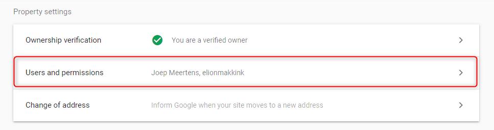 Google Search Console Add User